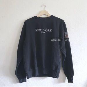 Brandy Melville navy New York Flag Sweater